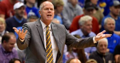 Colorado coach Tad Boyle reacts to a foul on the Buffs against Kansas